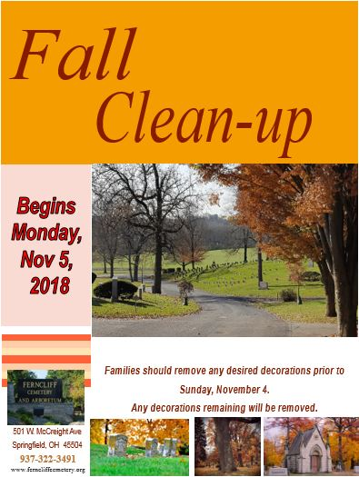 Fall Clean-up is Monday, Nov. 5